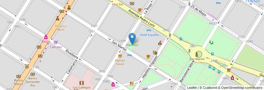 Mapa de ubicacion de Plazoleta en Mar Del Plata, Partido De General Pueyrredón, Buenos Aires, Argentina.