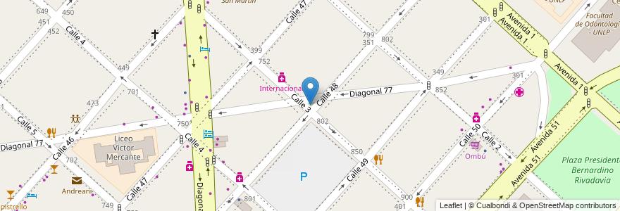 Mapa de ubicacion de Plazoleta Doctor Alfredo Calcagno, Casco Urbano en La Plata, Partido De La Plata, Buenos Aires, Argentina.