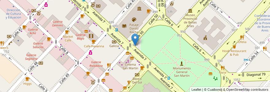 Mapa de ubicacion de Plazoleta Doctor Alfredo Lorenzo Palacios, Casco Urbano en Argentina, Buenos Aires, Partido De La Plata, La Plata.