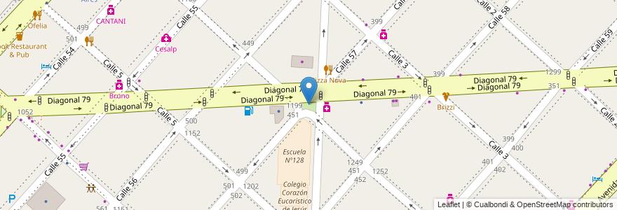 Mapa de ubicacion de Plazoleta Doctor Arturo M. Jauretche, Casco Urbano en Argentina, Buenos Aires, Partido De La Plata, La Plata.