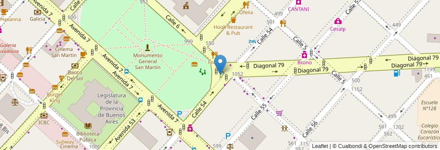Mapa de ubicacion de Plazoleta Esc. Federico M. Della Croce, Casco Urbano en Argentina, Buenos Aires, Partido De La Plata, La Plata.
