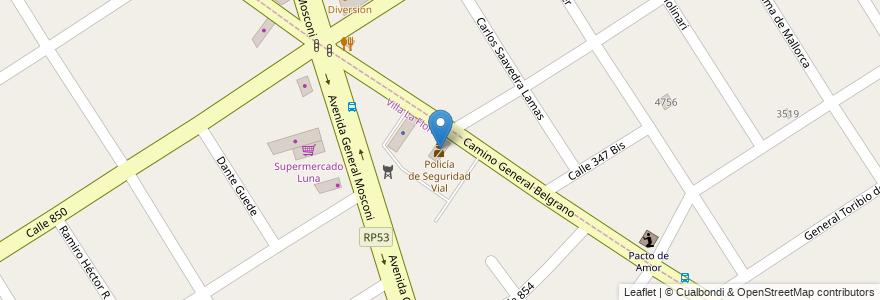 Mapa de ubicacion de Policía de Seguridad Vial en Argentina, Buenos Aires, Partido De Quilmes, Villa La Florida.