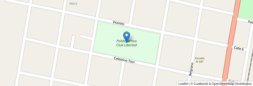 Mapa de ubicacion de Polideportivo Club Libertad en Nelson, Municipio De Nelson, Departamento La Capital, Santa Fe, Argentina.