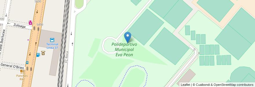 Mapa de ubicacion de Polideportivo Municipal Eva Peon en Argentina, Buenos Aires, Partido De Lanús, Remedios De Escalada.