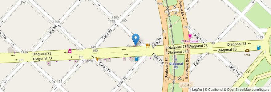 Mapa de ubicacion de Polimeros, Casco Urbano en La Plata, Partido De La Plata, Buenos Aires, Argentina.