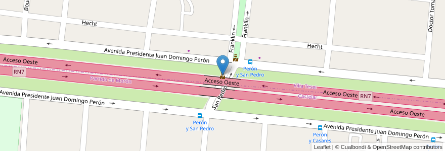 Mapa de ubicacion de Posta Policial San Pedro en Argentina, Buenos Aires, Partido De Morón, Partido De Hurlingham.