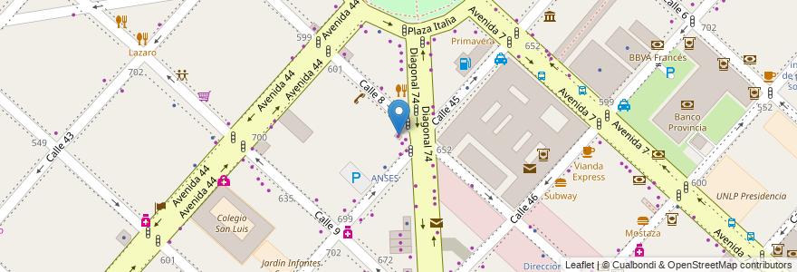 Mapa de ubicacion de Prestamos Argentinos, Casco Urbano en La Plata, Partido De La Plata, Buenos Aires, Argentina.