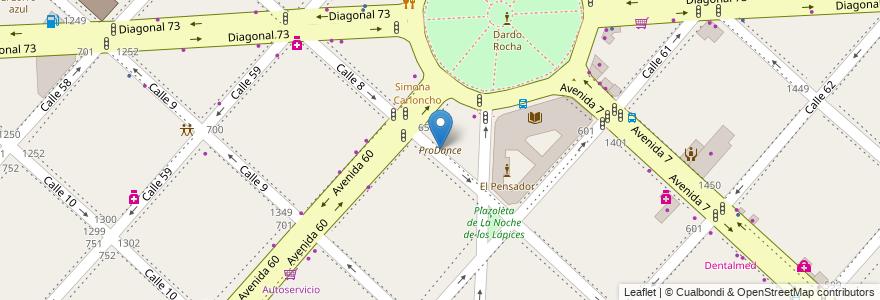 Mapa de ubicacion de ProDance, Casco Urbano en La Plata, Partido De La Plata, Buenos Aires, Argentina.