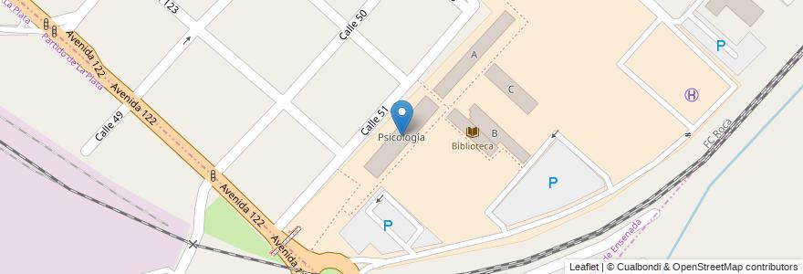 Mapa de ubicacion de Psicología en Argentina, Buenos Aires, Partido De Ensenada.