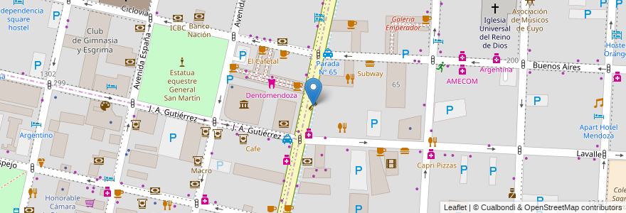 Mapa de ubicacion de Público en Argentina, Chile, Mendoza, Departamento Capital, Ciudad De Mendoza, Sección 3ª Parque O'Higgins.