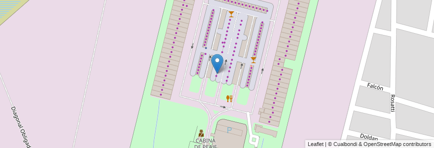 Mapa de ubicacion de PUESTO N°114 Novello, Sebastián en Argentina, Santa Fe, Departamento La Capital, Santa Fe Capital.