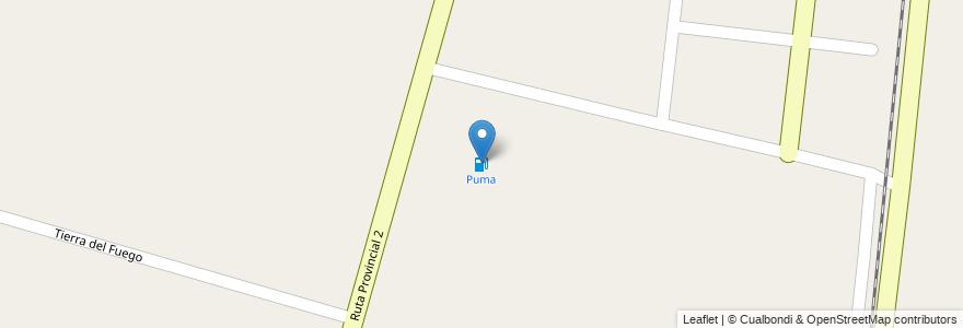 Mapa de ubicacion de Puma en Municipio De Monte Vera, Departamento La Capital, Santa Fe, Argentina.