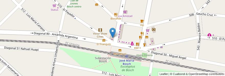 Mapa de ubicacion de Punto Rosso en Argentina, Buenos Aires, Partido De Tres De Febrero, Villa Bosch.