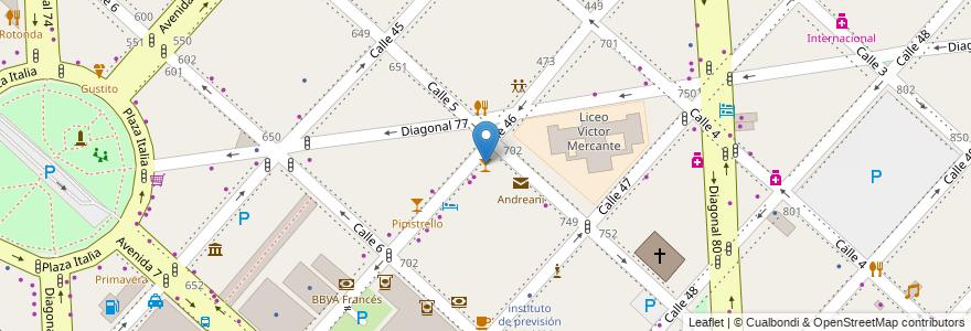 Mapa de ubicacion de Pura Mistica, Casco Urbano en La Plata, Partido De La Plata, Buenos Aires, Argentina.