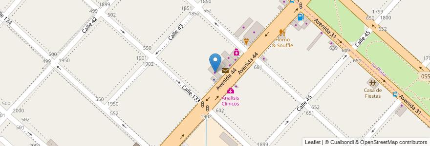 Mapa de ubicacion de Pureleter, San Carlos en San Carlos, Partido De La Plata, Buenos Aires, Argentina.
