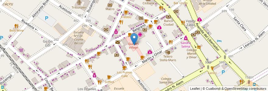 Mapa de ubicacion de Queen's Village en Argentina, Buenos Aires, Partido De San Isidro, San Isidro.