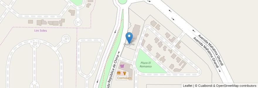 Mapa de ubicacion de Quincho en Córdoba, Municipio De Córdoba, Pedanía Capital, Departamento Capital, Córdoba, Argentina.