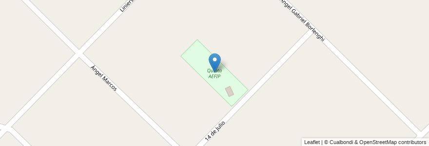 Mapa de ubicacion de Quinta AEFIP en Bahía Blanca, Partido De Bahía Blanca, Buenos Aires, Argentina.