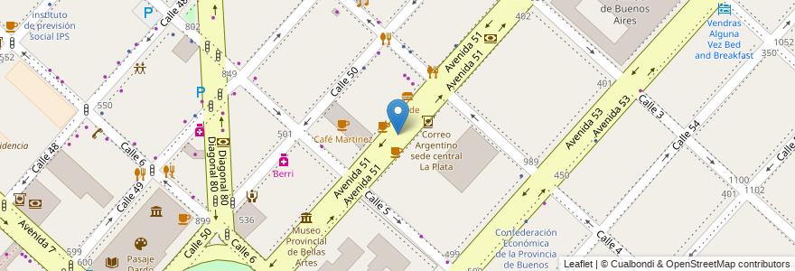 Mapa de ubicacion de Rambla Ana Gotilla de Cafiero, Casco Urbano en La Plata, Partido De La Plata, Buenos Aires, Argentina.