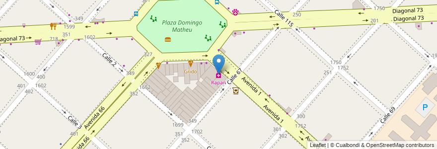 Mapa de ubicacion de Rapan, Casco Urbano en La Plata, Partido De La Plata, Buenos Aires, Argentina.