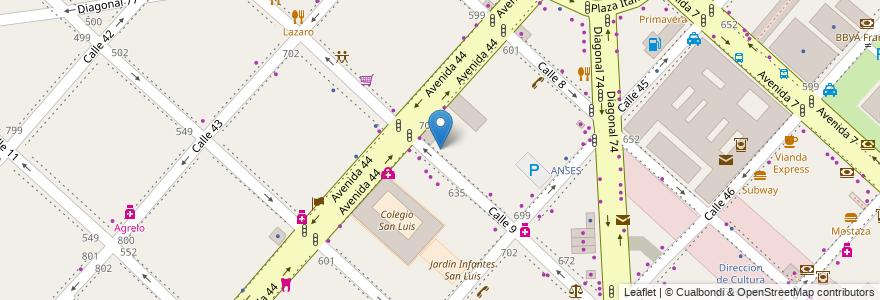 Mapa de ubicacion de Registro Nacional de Armas (RENAR), Casco Urbano en Argentina, Buenos Aires, Partido De La Plata, La Plata.
