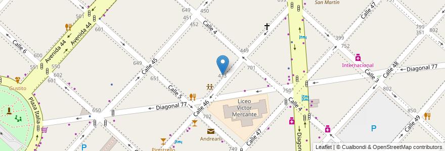 Mapa de ubicacion de Registro Provincial de las Personas - Centros de Documentación RApida (CDR), Casco Urbano en La Plata, Partido De La Plata, Buenos Aires, Argentina.