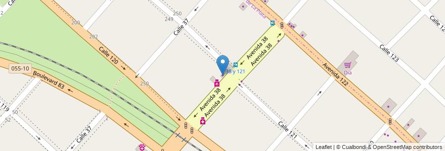 Mapa de ubicacion de Reparación de Calzado, Casco Urbano en La Plata, Partido De La Plata, Buenos Aires, Argentina.
