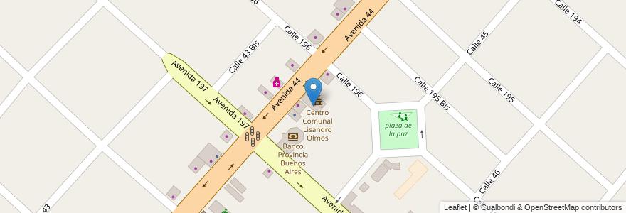 Mapa de ubicacion de Rios de Aguas de vida, Lisandro Olmos en Argentina, Buenos Aires, Partido De La Plata, Lisandro Olmos.