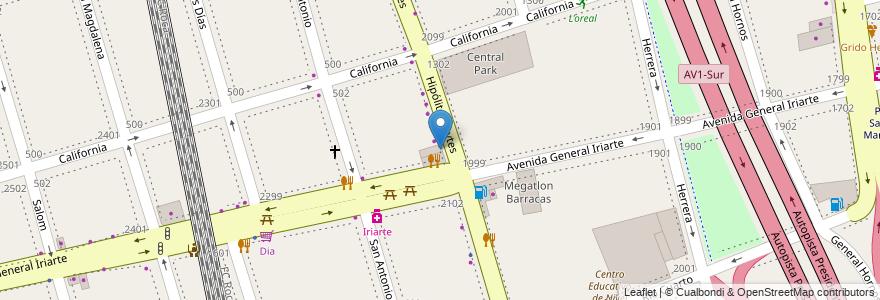 Mapa de ubicacion de Rotisería Candela, Barracas en Argentina, Ciudad Autónoma De Buenos Aires, Comuna 4, Partido De Avellaneda, Buenos Aires.