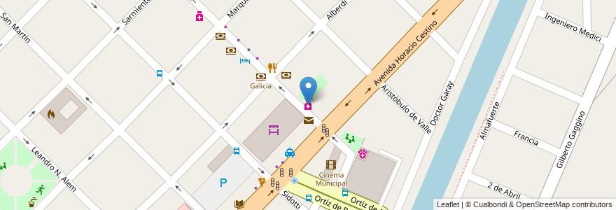 Mapa de ubicacion de Roux en Argentina, Buenos Aires, Partido De Ensenada.