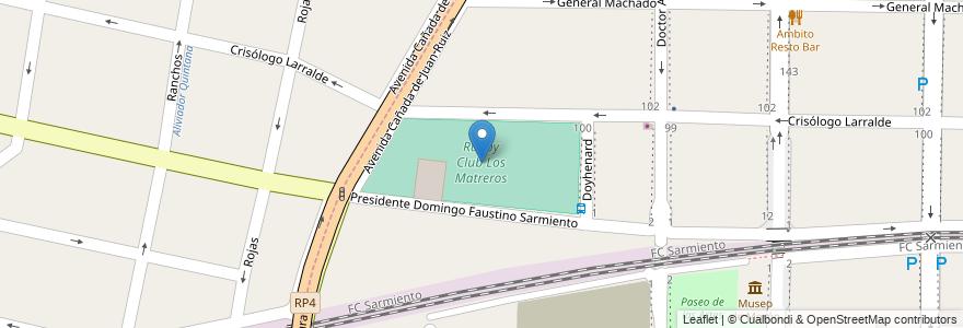 Mapa de ubicacion de Rugby Club Los Matreros en Argentina, Buenos Aires, Partido De Morón.