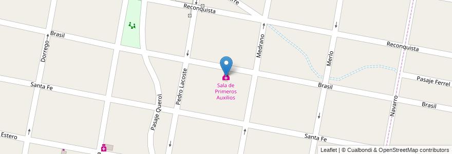 Mapa de ubicacion de Sala de Primeros Auxilios en Argentina, Buenos Aires, Partido De Merlo, Merlo.