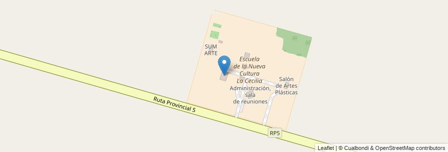 Mapa de ubicacion de Salón de Usos Múltiples, Cocina, informática, alumnado, baños en Municipio De Monte Vera, Departamento La Capital, Santa Fe, Argentina.
