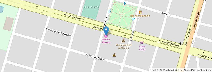 Mapa de ubicacion de Samco Recreo en Municipio De Recreo, Departamento La Capital, Santa Fe, Argentina.