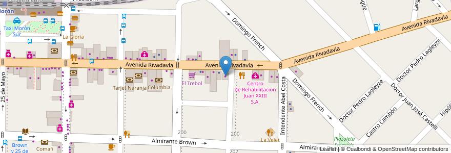 Mapa de ubicacion de San Antonio en Argentina, Buenos Aires, Partido De Morón, Morón.