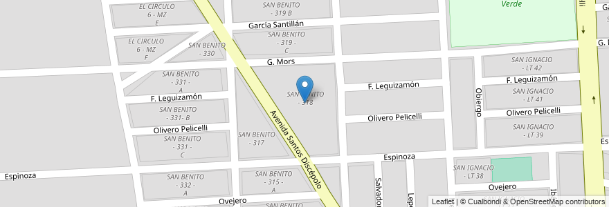 Mapa de ubicacion de SAN BENITO - 318 en Municipio De Salta, Salta, Capital, Salta, Argentina.