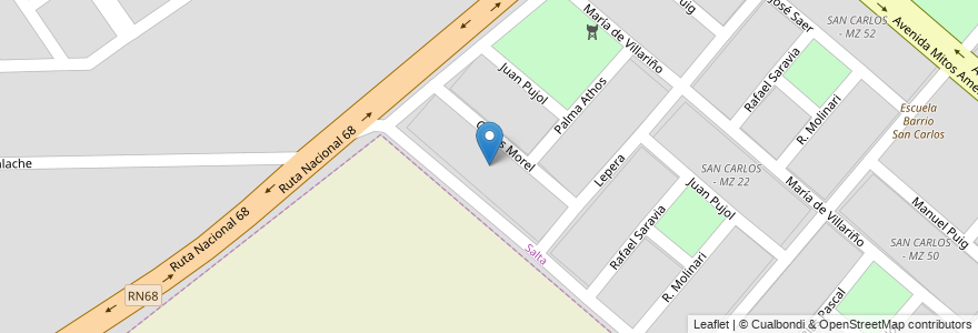 Mapa de ubicacion de SAN CARLOS - MZ 28 en Municipio De Salta, Salta, Capital, Salta, Argentina.