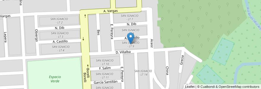 Mapa de ubicacion de SAN IGNACIO - LT 9 en Argentina, Salta, Capital, Municipio De Salta, Salta.