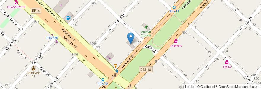 Mapa de ubicacion de San Martin Puertas y Ventanas, Tolosa en Argentina, Buenos Aires, Partido De La Plata.