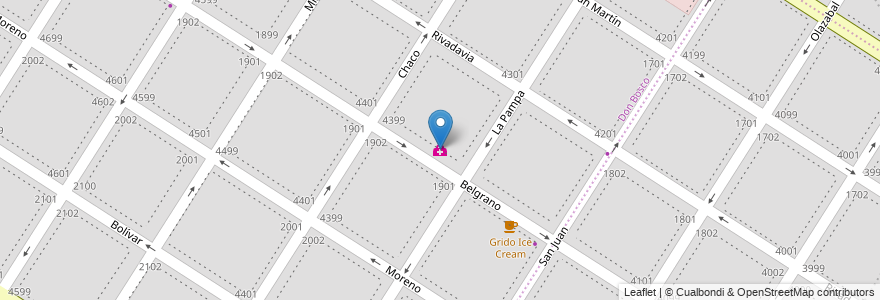 Mapa de ubicacion de Sanatorio Belgrano en Mar Del Plata, Partido De General Pueyrredón, Buenos Aires, Argentina.