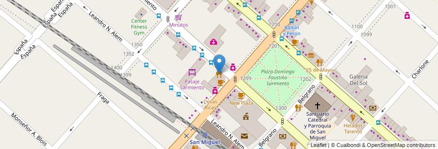 Mapa de ubicacion de Sandcho en Argentina, Buenos Aires, Partido De San Miguel, San Miguel.