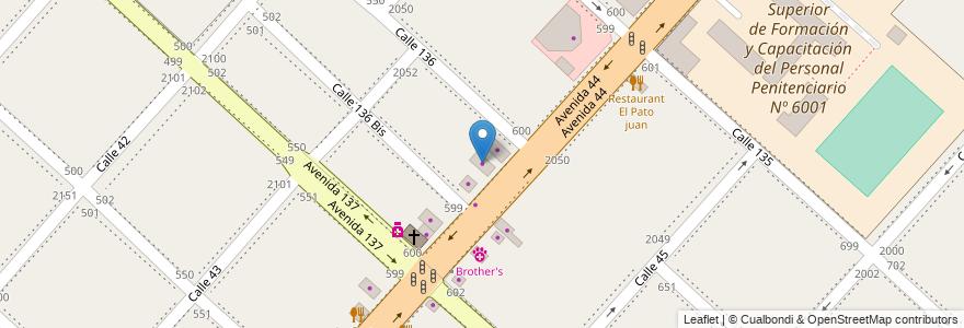 Mapa de ubicacion de Sani Oeste, San Carlos en San Carlos, Partido De La Plata, Buenos Aires, Argentina.