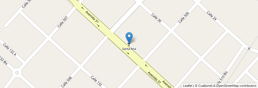 Mapa de ubicacion de Santa Ana, Hernandez en Argentina, Buenos Aires, Partido De La Plata, José Hernández.