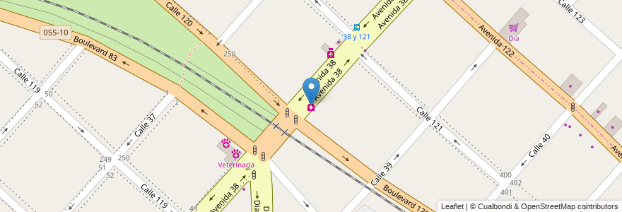 Mapa de ubicacion de Santa Teresita, Casco Urbano en Argentina, Buenos Aires, Partido De La Plata, La Plata.