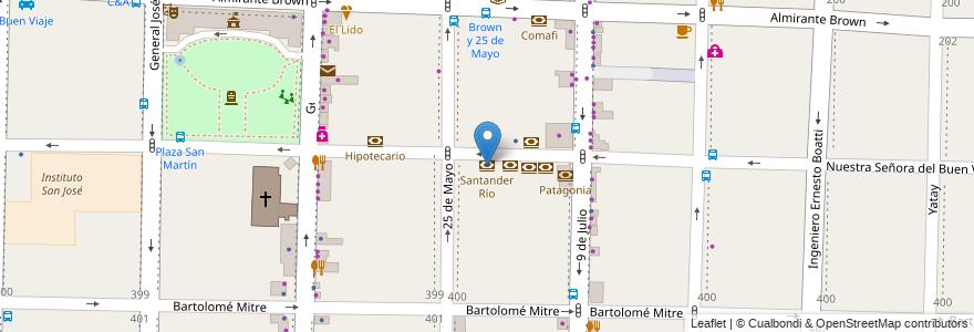 Mapa de ubicacion de Santander Río en Morón, Partido De Morón, Buenos Aires, Argentina.