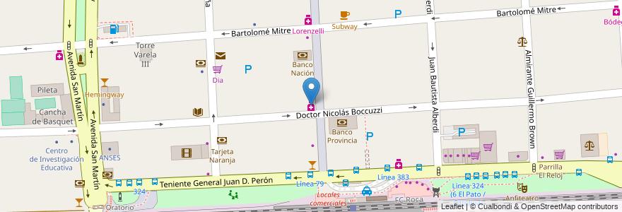 Mapa de ubicacion de Sbatella en Argentina, Buenos Aires, Partido De Florencio Varela, Florencio Varela.