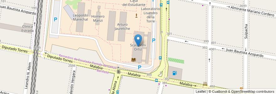 Mapa de ubicacion de Scalabrini Ortiz en Argentina, Buenos Aires, Partido De Lanús, Partido De Lomas De Zamora, Remedios De Escalada.