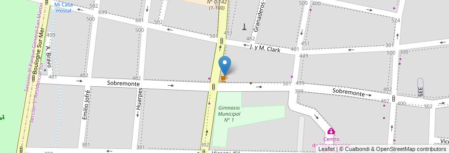 Mapa de ubicacion de SeiTu en Argentina, Chile, Mendoza, Departamento Capital, Sección 5ª Residencial Sur, Ciudad De Mendoza.