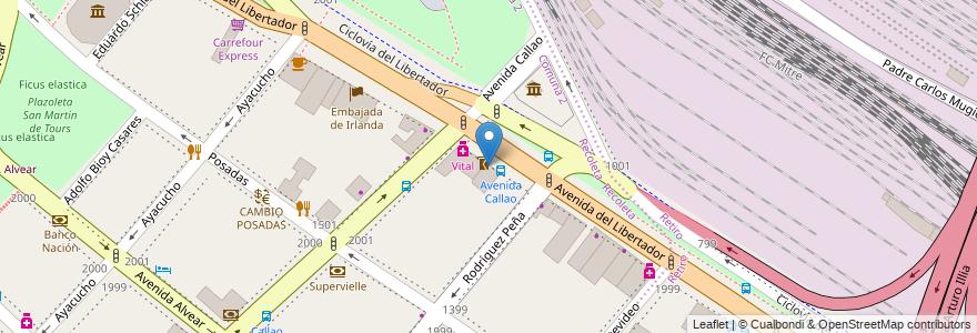 Mapa de ubicacion de Serafin, Recoleta en Buenos Aires, Ciudad Autónoma De Buenos Aires, Argentina.