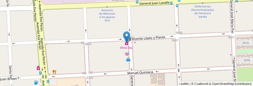 Mapa de ubicacion de Silvia Dau en Argentina, Buenos Aires, Partido De Florencio Varela, Florencio Varela.
